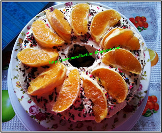 ORANGE CHIFFON CAKE WITH CHOCOLATE LAYERS & CHEESE FROSTING