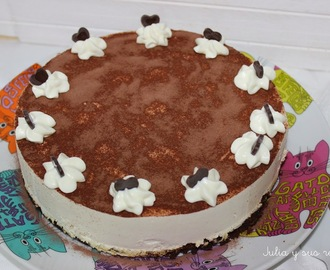 TARTA BROWNIE DE CHOCOLATE CON MOUSSE DE BAILEYS