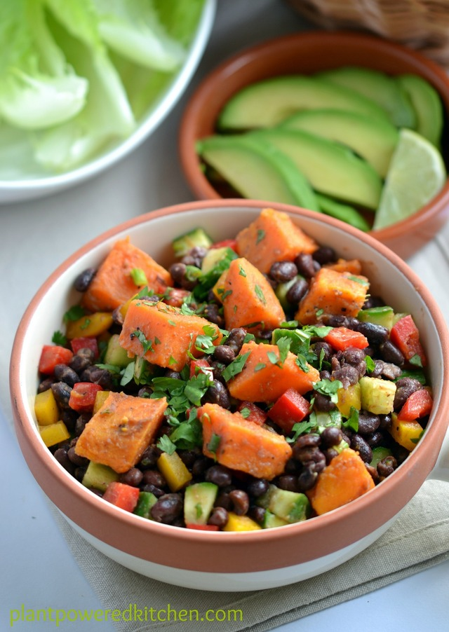 Clean Eating: Smoky Sweet Potato and Black Bean Salad