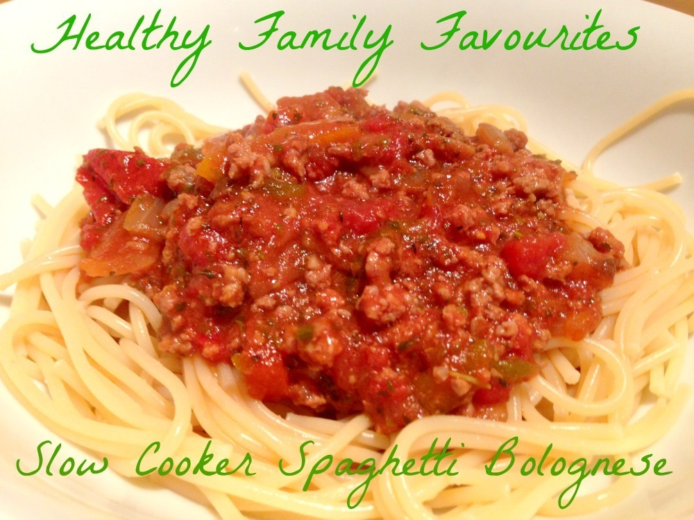 Slow Cooker Spaghetti Bolognese – Healthy Family Favourites week 2