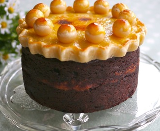 Chocolate Simnel Cake (gluten free) with Hazelnut Marzipan