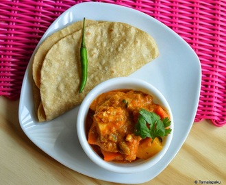 Mixed Vegetable Kurma with Roti
