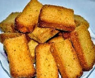 Cake rusk at home recipe