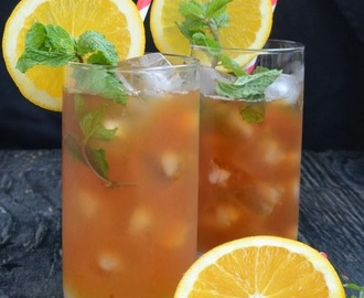 Orange And Mint Iced Tea