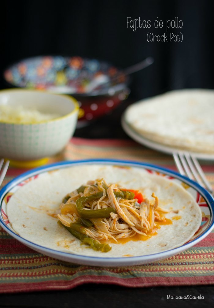 Fajitas de pollo Tex-Mex (en Crock Pot)
