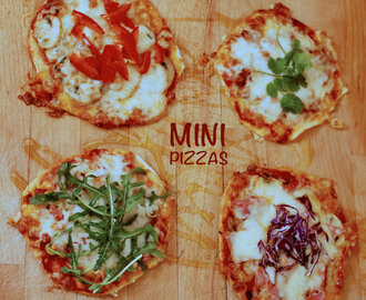 4 mini-pizzas para o jantar de domingo