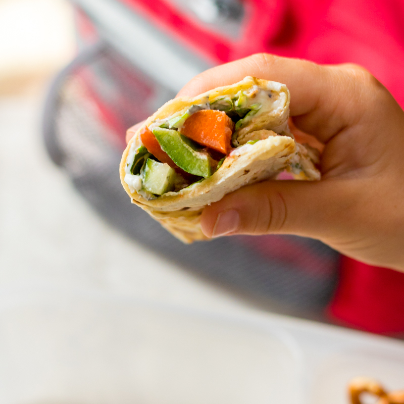 Ranch Veggie Wraps