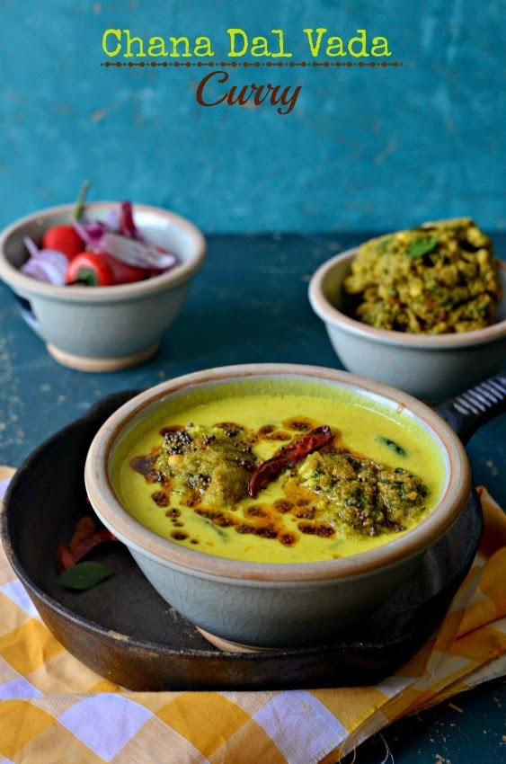 Chana Daal Vada Curry  :: Bengal gram fritters in yoghurt gravy  :: South Indian style Kadhi  :: Kuzhambu