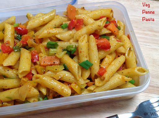 Veg Penne Pasta ~Indian Style