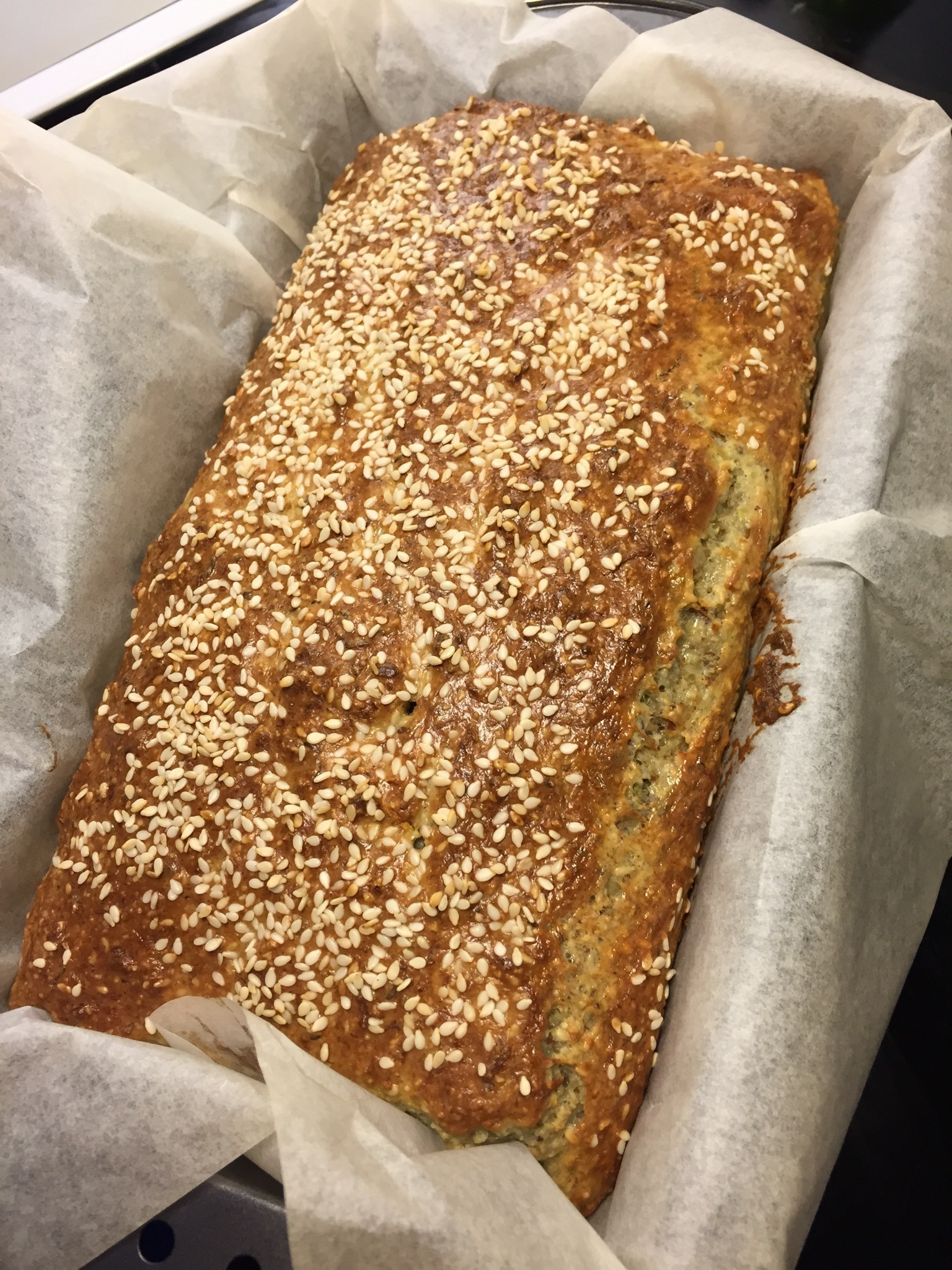 LCHF Bread with Zucchini