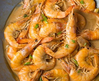 Shrimp Adobo with Coconut Milk