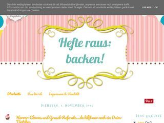 Hefte raus: backen!