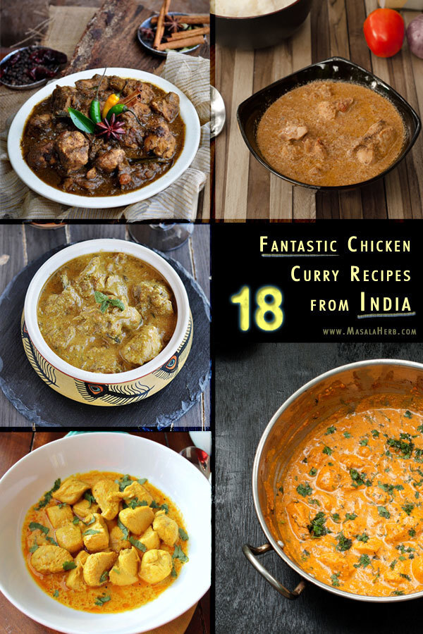 18 fantastic Chicken Curry Recipes from India – Spicy Chicken Gravy to tickle your tongue