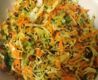 Cabbage Carrot Stirfry Sabzi / Cabbage Carrot Stirfry