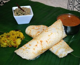 South Indian Masala Dosa/Dosai (potato masala crepe)