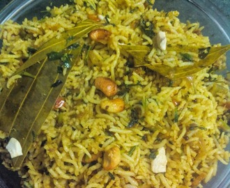 Methi Pulao/Rice (Green Fenugreek Rice-Pulao)