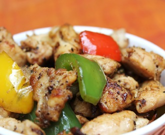 Chicken & Bell Pepper stir fry
