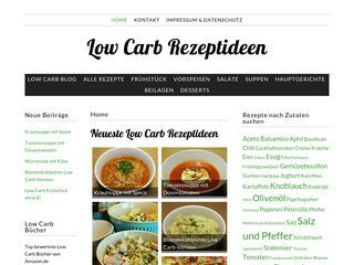 Low Carb Rezeptideen