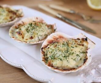 Crab and scallop Mornay