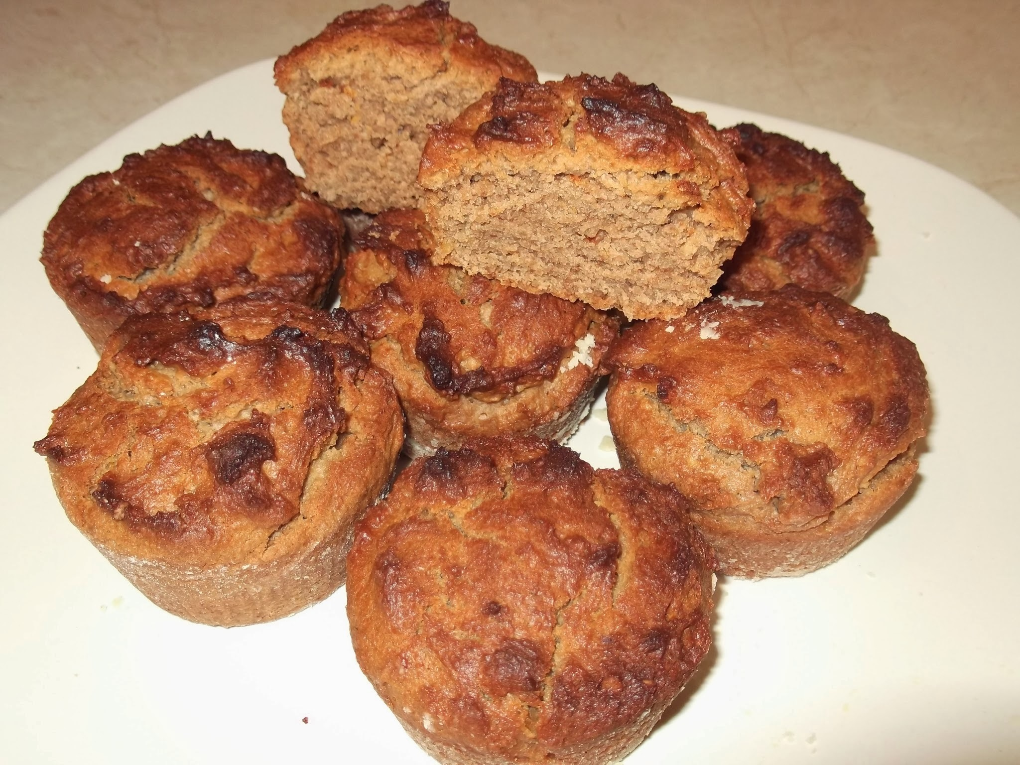 Muffins με ταχίνι και μέλι