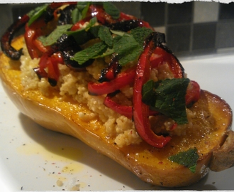 Butternut Pumpkin with Quinoa, Feta, basil & mint …