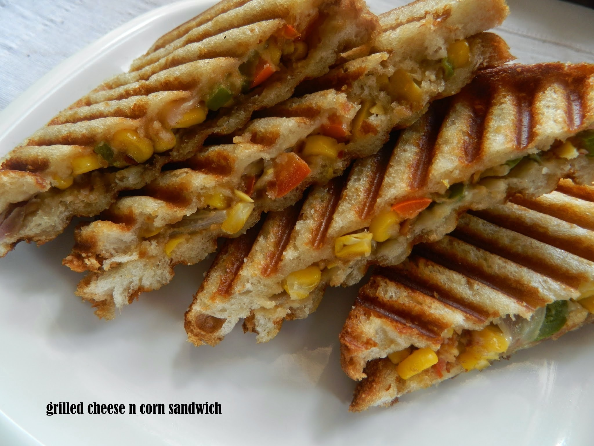 Grilled Cheese and Corn sandwich