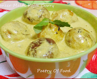 Paneer Malai Kofta Curry...!! Cheese Balls In Creamy Gravy..!!