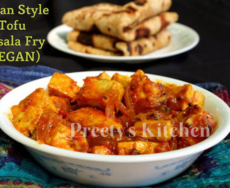 Indian Style Tofu Masala Fry / Vegan Recipe (Step By Step Pictures)