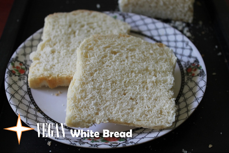 Vegan White Bread Recipe / Vegan Sandwich Bread Recipe / White Sandwich Bread Recipe