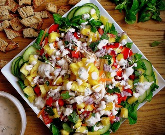Sałatka z kurczakiem i ananasem / Chicken Salad with Pineapple