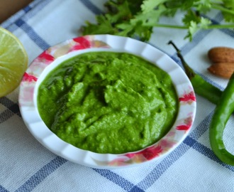 Green Chutney  -  Coriander Chutney for Chaat Recipes
