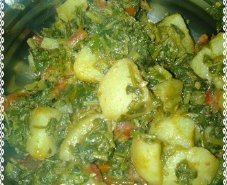 Aloo Methi Sabji | Potato with Fenugreek Leaves