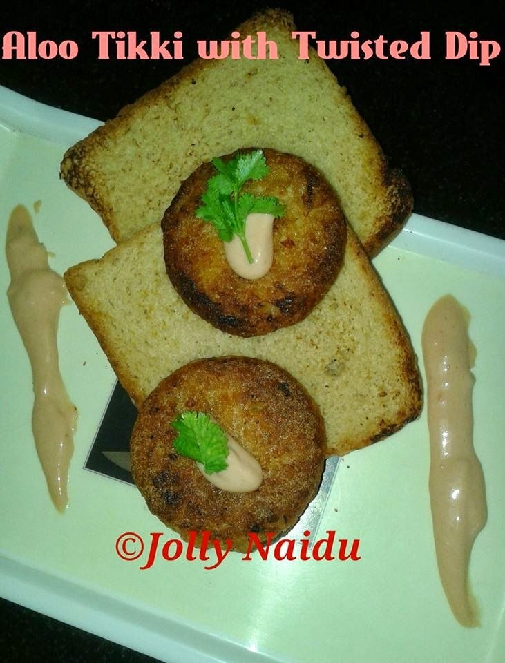 Homemade Aloo Tikki with Twisted Dip