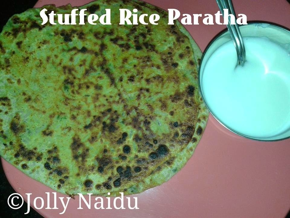 Stuffed Rice Paratha | How to make Crispy Rice Paratha | Recipe