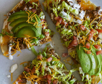 Best Beef Taco Salad Pizza Recipe-How To Make Beef Taco Salad Pizza—Delish.com