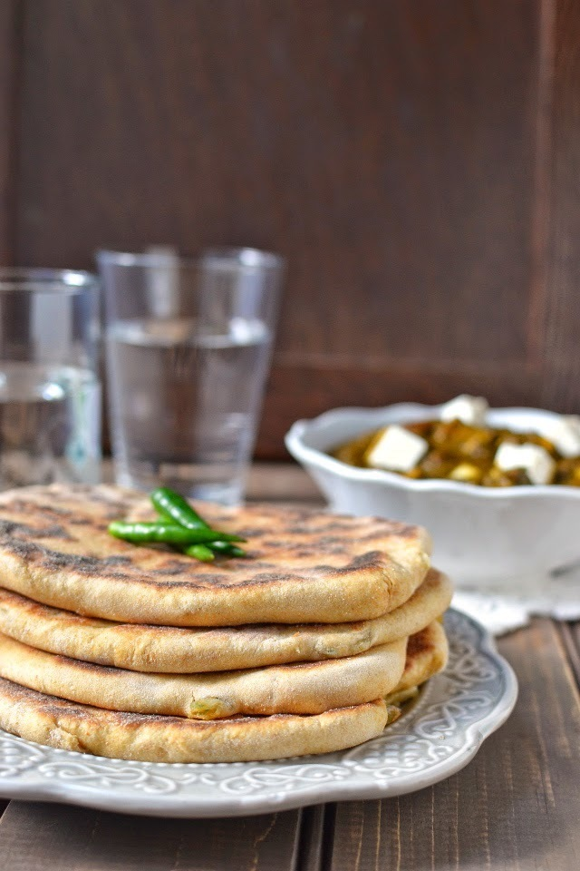 Amritsari Aloo Kulcha (Potato Stuffed Indian Bread) for ICC