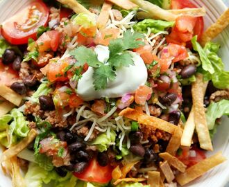 Easy Beef Taco Salad Recipe - How To Make Taco Salad - Delish.com