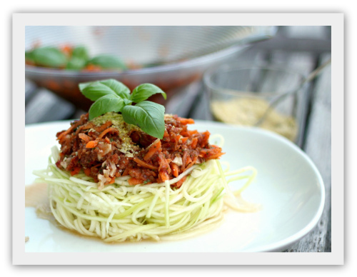 Raw pasta bolognese!