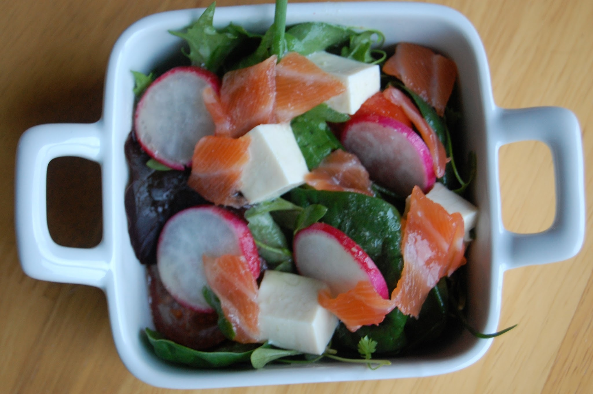 QUICK JAPANESE RECIPE: SMOKED SALMON AND TOFU SALAD WITH WASABI DRESSING