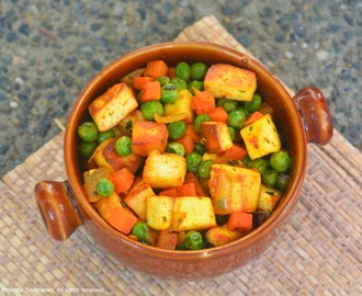 Spicy Paneer/Indian cheese and Vegetable stir-fry