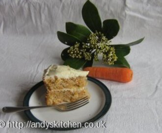 Dairy-Free Carrot Cake with White Chocolate Icing Recipe