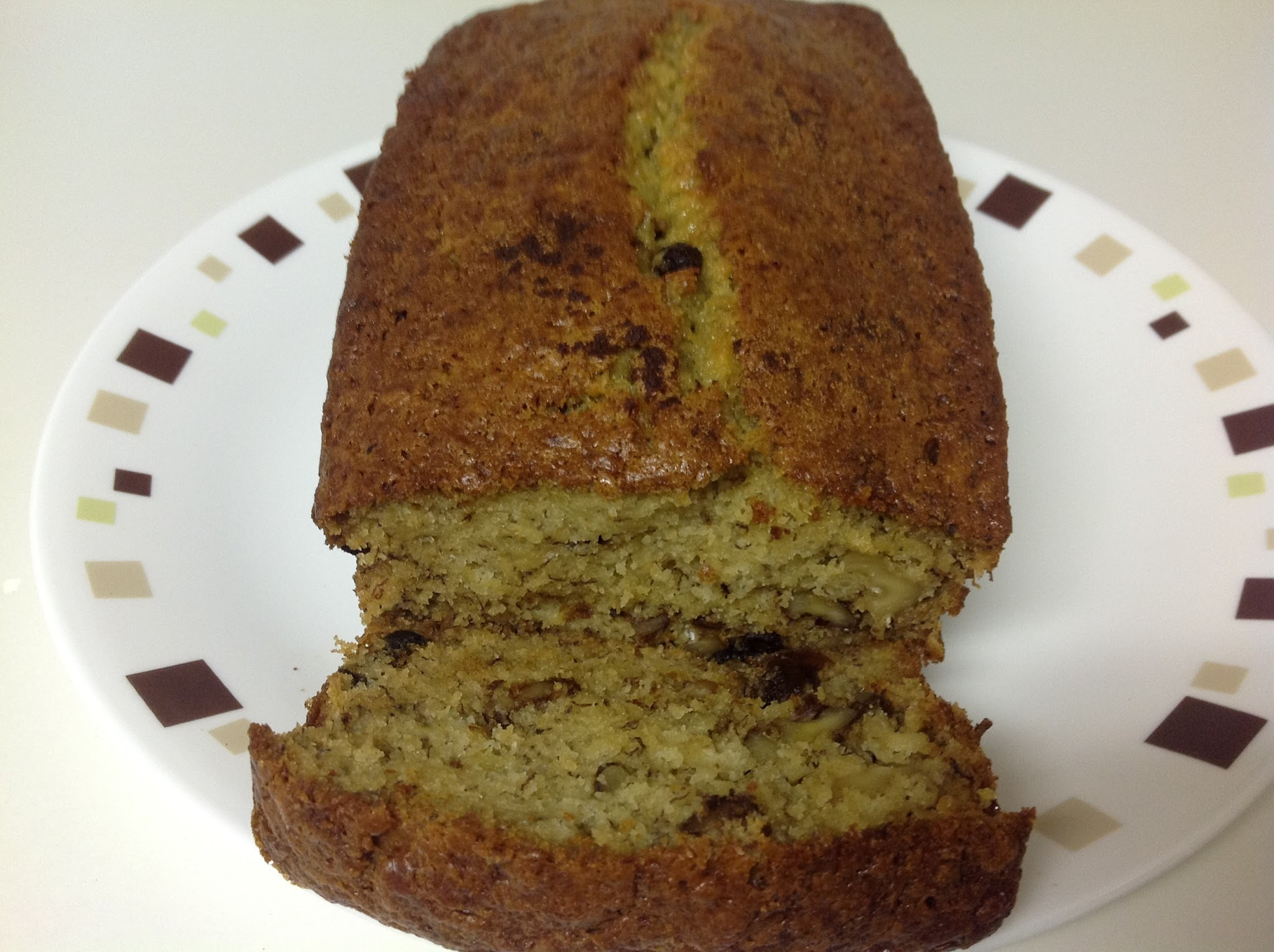 Banana Walnut Raisin Bread