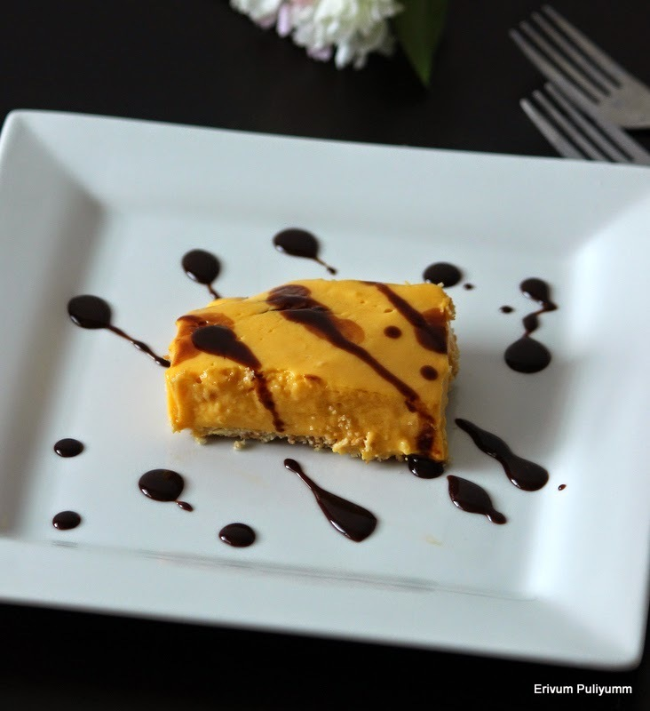 Mango Biscuit Layer Pudding