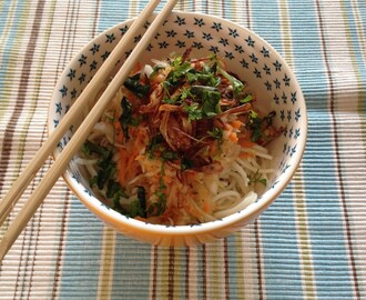 No Takeout, Day 1: Green Papaya Salad with Sesame Noodles