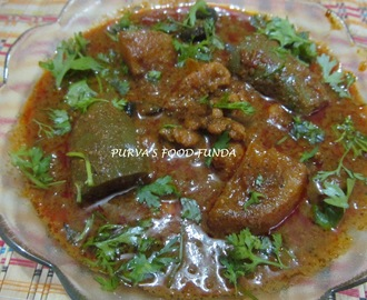 Maharastrian Prawns Curry With Brinjal & Potato (Vang-Batata Kolambich Kalwan)