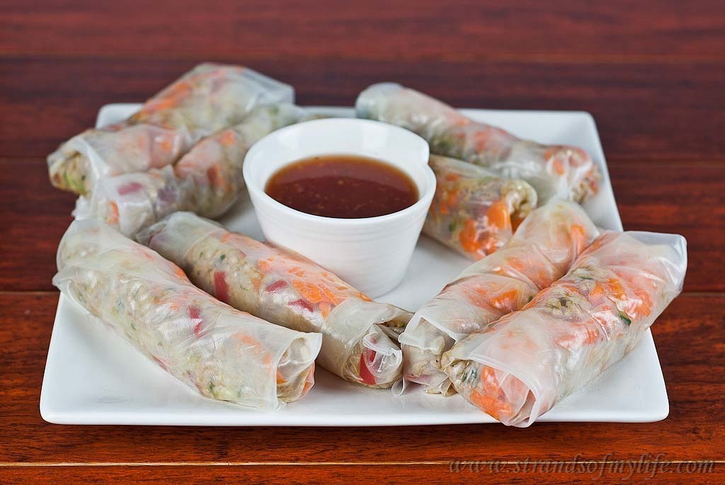 Thai Pork in Rice Papers – gluten-free and low FODMAPs