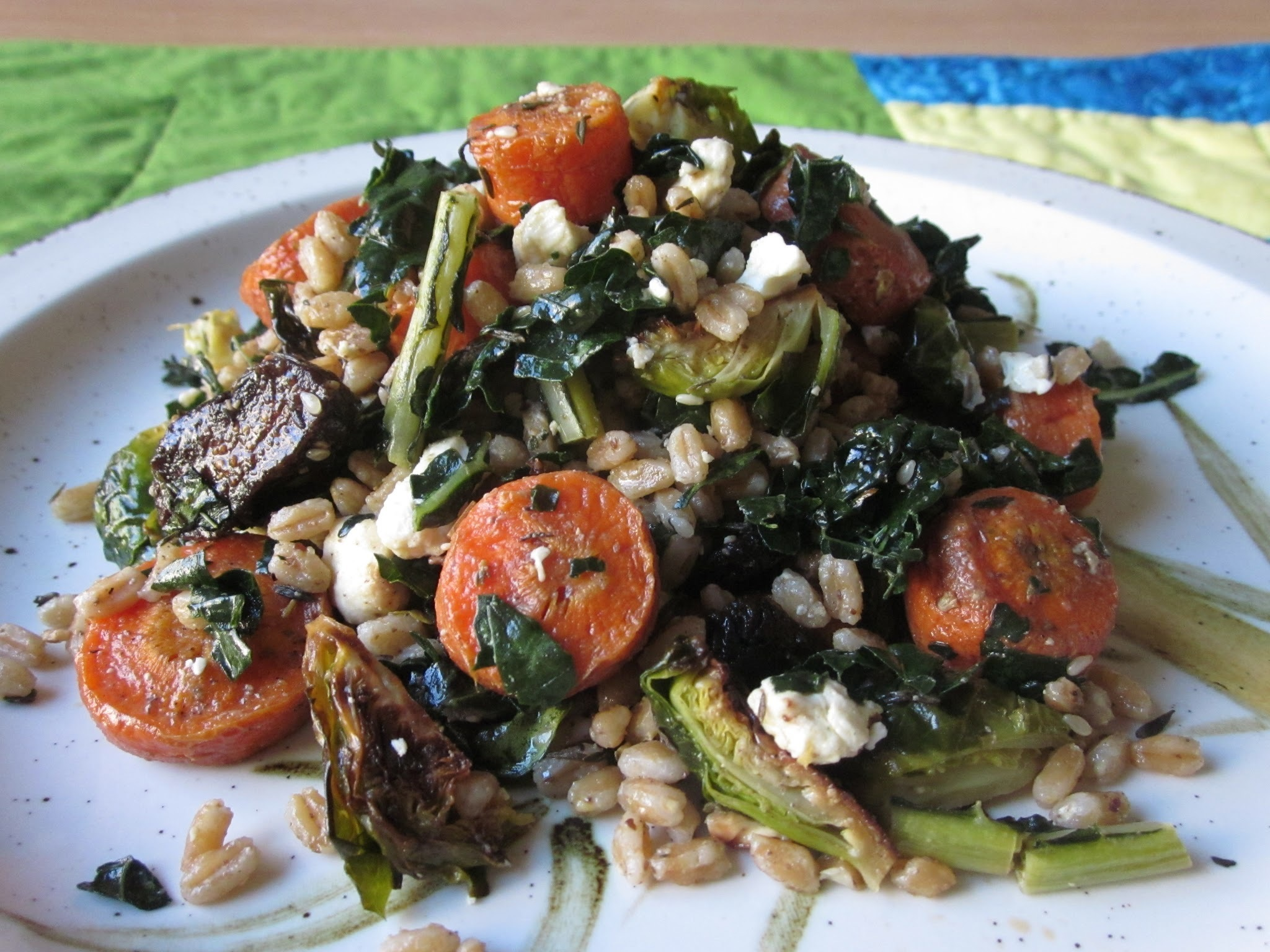 Roasted Vegetable and Farro Salad with Za'atar