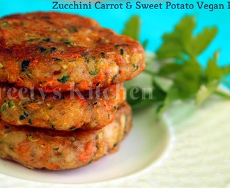 Zucchini Carrot & Sweet Potato Vegan Burger / Patty / Tikki
