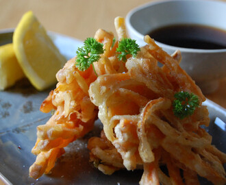 JAPANESE RECIPE: MIXED VEG IN A LIGHT AND CRISPY TEMPURA BATTER