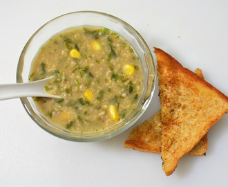 Oats Corn Cilantro Soup